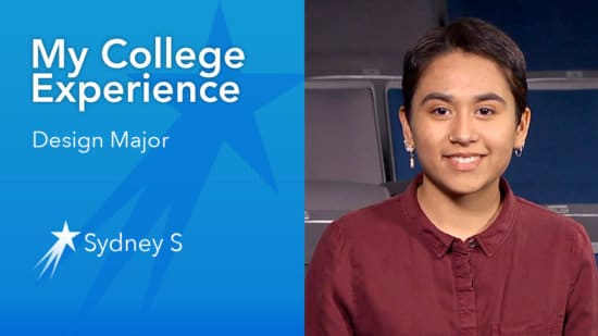 Get college advice from design major Sydney, at University of San Francisco. She gives tips on how to choose a major, adjusting to college life and being successful in college.